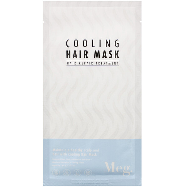 Meg Cosmetics, Cooling Hair Mask, 1 Sheet, 1.41 oz (40 g)