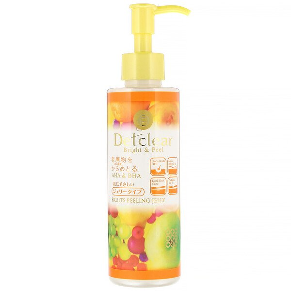 Detclear, Bright & Peel, Fruit Peeling Jelly, Mixed Fruit, 6.1 fl oz (180 ml)