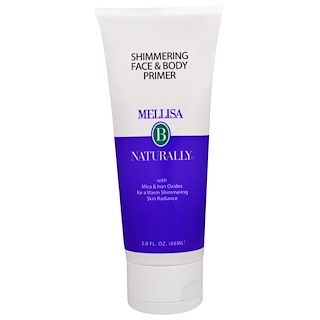 Mellisa B. Naturally, Shimmering Face & Body Primer, 3 fl oz (88 ml)