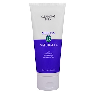 Mellisa B. Naturally, Cleansing Milk, with Avocado Oil, Manuka Honey, and Lucama Fruit, 3 fl oz (88 ml)