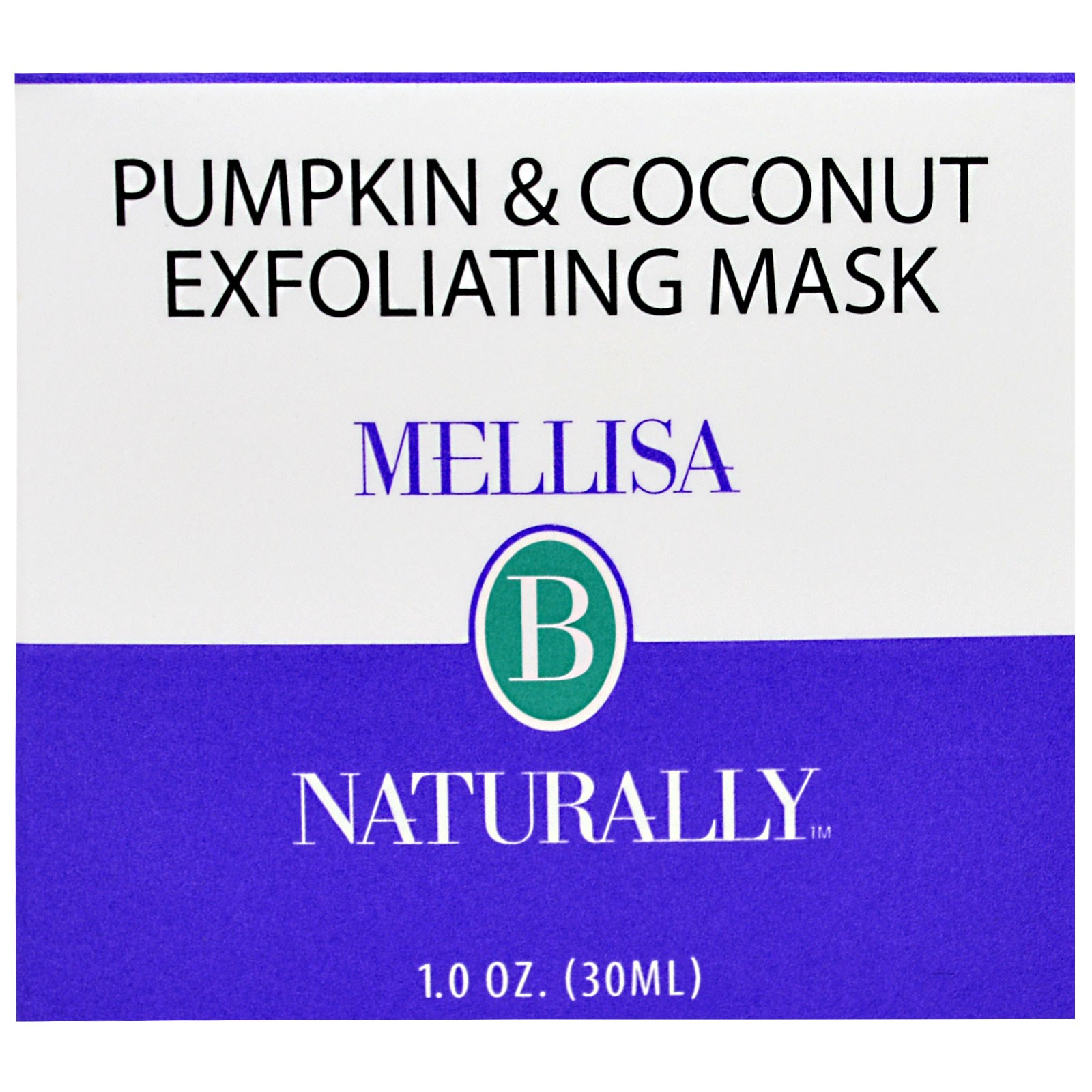 Mellisa B. Naturally, Pumpkin & Coconut Exfoliating Mask, 1 oz(pack of 4) Academie - Men Active Purifying Deep Cleansing Scrub -75ml/2.5oz