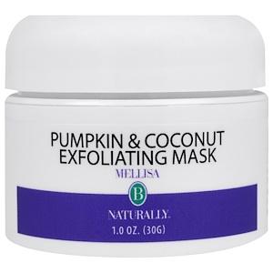 Мелисса Б Нэчуралли, Pumpkin & Coconut Exfoliating Mask, 1 oz (30 ml) отзывы