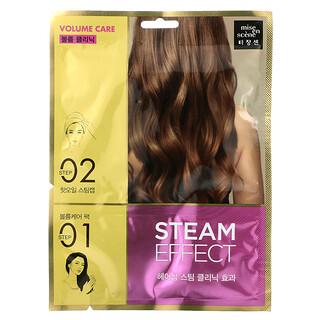 Mise En Scene, Steam Effect Hair Pack, Volume Care, 1 Set