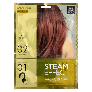 Mise En Scene, Steam Effect Hair Pack, Color Care, 1 Set