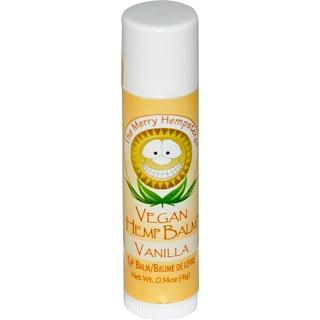 Merry Hempsters, Vegan Hemp Balm, Lip Balm, Vanilla  0.14 oz (4 g)