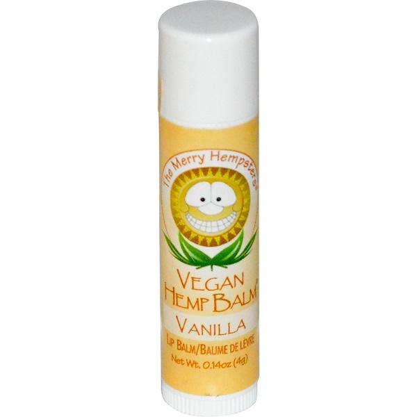 Merry Hempsters, Vegan Hemp Balm, Lip Balm, Vanilla  0.14 oz (4 g) (Discontinued Item)