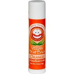 Merry Hempsters, Vegan Hemp Balm, Lip Balm, Orange, 0.14 oz (4 g)