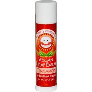Merry Hempsters, Vegan Hemp Balm, Lip Balm, Cinnamon, 0.14 oz (4 g)
