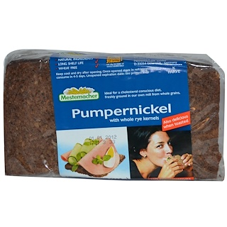Mestemacher, Pumpernickel with Whole Rye Kernel, 17.6 oz (500 g)
