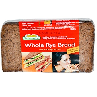Mestemacher, Whole Rye Bread, 17.6 oz (500 g)