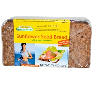 Mestemacher, Sunflower Seed Bread with Whole Rye Kernels, 17.6 oz (500 g)