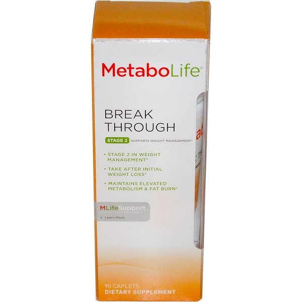 Metabolife, Break Through, Stage 2, Supports Weight Management, 90 Caplets (Discontinued Item)