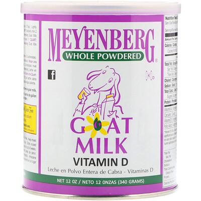 Meyenberg Goat Milk Сухое козье молоко, витамин D, 340г