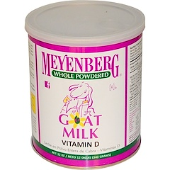 Meyenberg Goat Milk, メインバーグゴートミルク, ヤギの全脂粉乳、ビタミンD、12オンス(340 g)