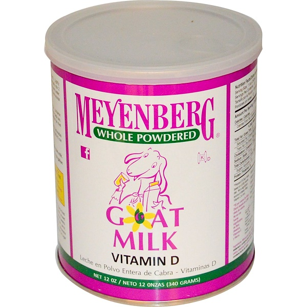 Meyenberg Goat Milk, Whole Powdered Goat Milk, Vitamin D, 12 oz (340 g)