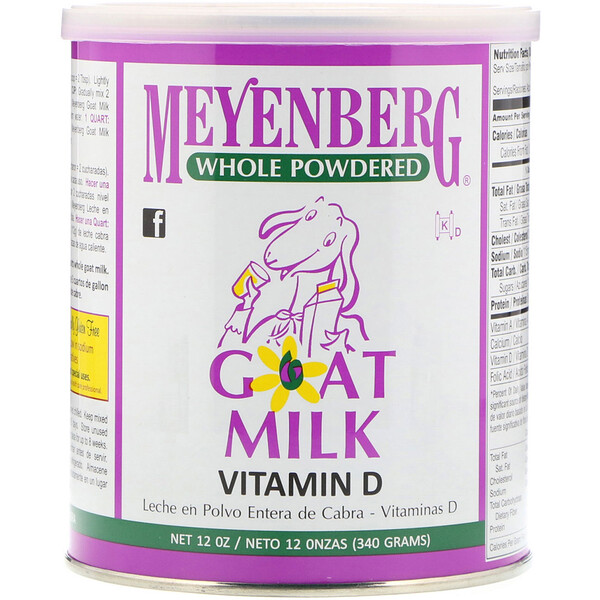 Whole Powdered Goat Milk, Vitamin D, 12 oz (340 g)