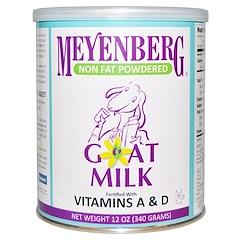 Meyenberg Goat Milk, Meyenberg Goat Milk, 無脂肪粉末ゴートミルク, 12 オンス (340 g)