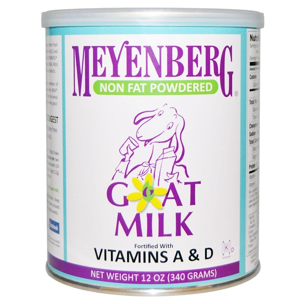 Meyenberg Goat Milk, Non Fat Powdered Goat Milk, 12 oz (340 g)