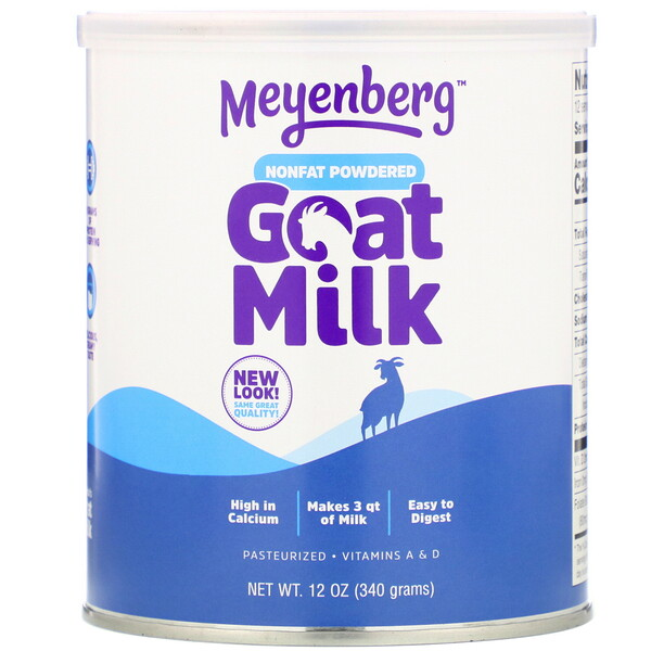 Meyenberg Goat Milk, Nonfat Powdered Goat Milk, 12 oz (340 g)