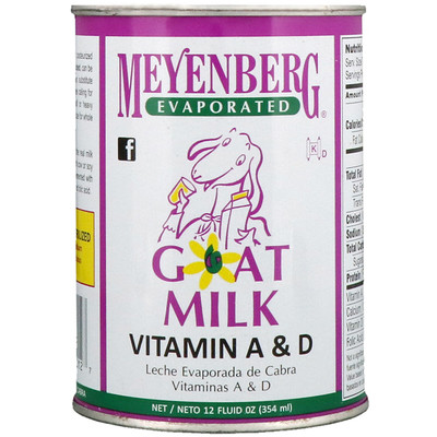 Meyenberg Goat Milk 脫水山羊奶、維生素 A & D,12 液體盎司(354 毫升)