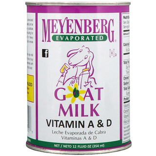 Meyenberg Goat Milk, Evaporated Goat Milk, Vitamin A & D, 12 fl oz (354 ml)