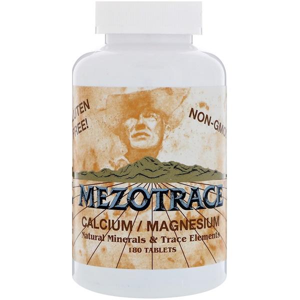 Mezotrace, Calcium / Magnesium, Natural Minerals & Trace Elements, 180 Tablets (Discontinued Item)
