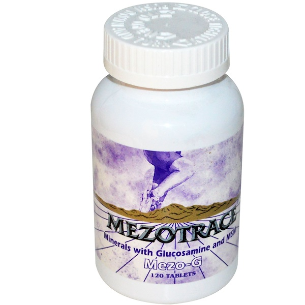 Mezotrace, Mezo-G, Minerals with Glucosamine and MSM, 120 Tablets (Discontinued Item)