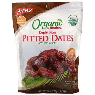 Mariani Dried Fruit, Organic Deglet Noor Pitted Dates, 8 oz ( 227 g)