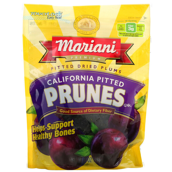 Premium, калифорнийский чернослив без косточек, 198г (7унций)