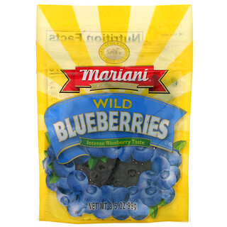 Mariani Dried Fruit, プレミアムワイルドブルーベリー、99g(3.5オンス)
