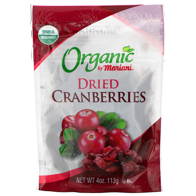 Mariani Dried Fruit Organic, Dried Cranberries, 4 oz ( 113 g)