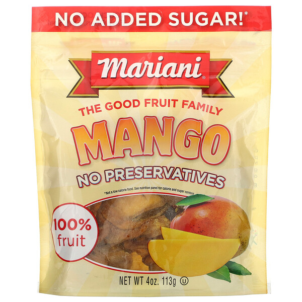 Mariani Dried Fruit, Mango, 4 oz ( 113 g)