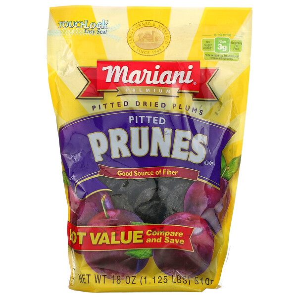 Mariani Dried Fruit, Premium, Pitted Prunes, 18 oz (510 g)