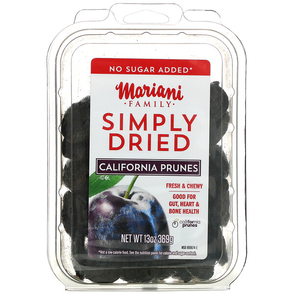 Mariani Dried Fruit, Family, Simply Dried California Prunes, 13 oz ( 369 g)