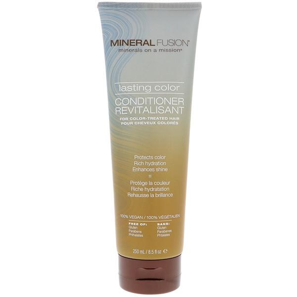 Mineral Fusion, ラスティング・カラー・コンディショナー、カラーリングした髪に、 8.5液量オンス (250 ml) (Discontinued Item)