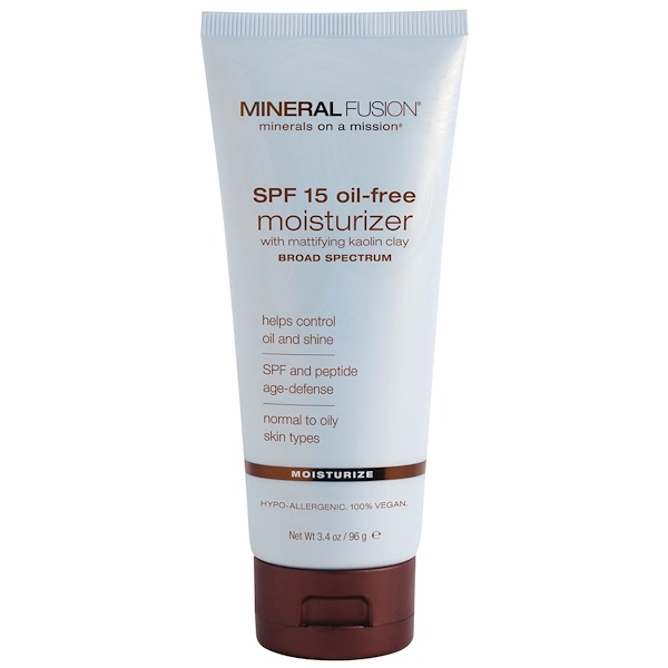 Mineral Fusion, Moisturizer, SPF 15 Oil-Free, Moisturize, Normal to Oily Skin, 3.4 oz (96 g) (Discontinued Item)