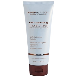 Mineral Fusion, Skin-Balancing Facial Moisturizer, For Normal Skin Types, 3.4 oz (96 g)