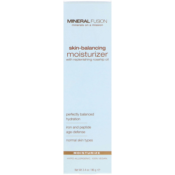 Mineral Fusion, Skin-Balancing Facial Moisturizer, For Normal Skin Types, 3.4 oz (96 g)