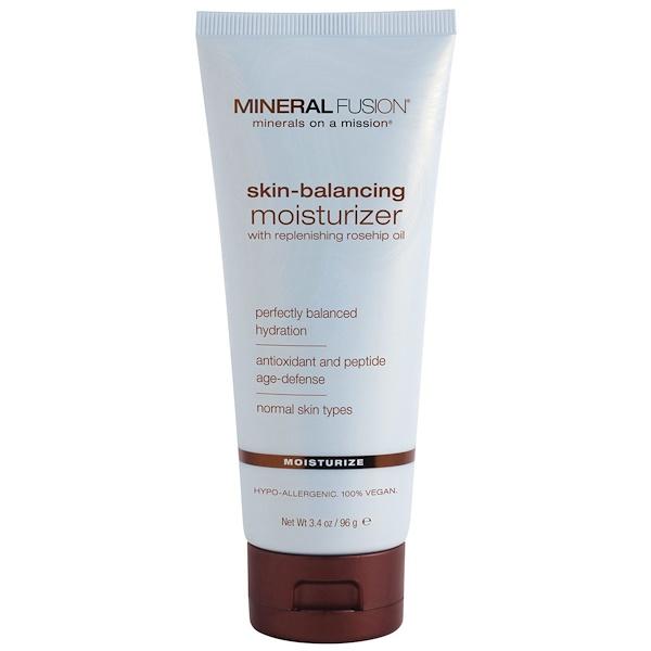 Mineral Fusion, Увлажняющий крем, регулирующий баланс кожи, для нормального типа кожи, 3,4 унции (96 г) (Discontinued Item)