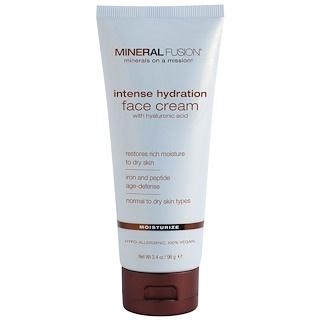 Mineral Fusion, Crème pour le visage hydratation intense, hydrate, 3.4 oz (96 g)