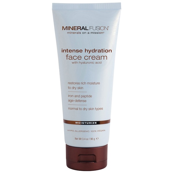 Mineral Fusion, Intense Hydration Face Cream, Moisturize, 3.4 oz (96 g)