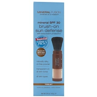 Mineral Fusion, Brush-On Sun Defense, Mineral SPF 30, Treat, 0.14 oz (4.0 g)