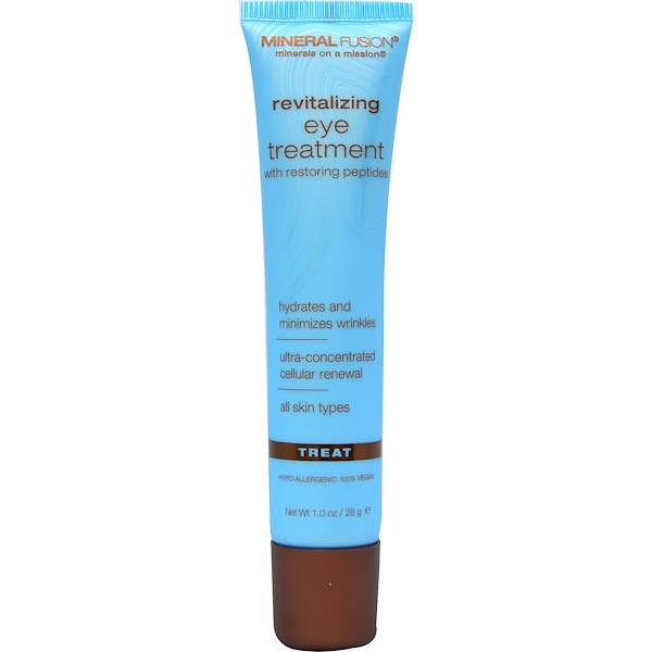 Mineral Fusion, Revitalizing Eye Treatment, Fragrance Free, 1 oz (28 g) (Discontinued Item)