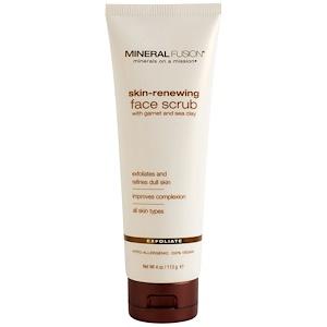 Минерал Фьюжн, Skin-Renewing Face Scrub, 4 oz (113 g) отзывы покупателей