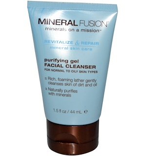Mineral Fusion, Purifying Gel Facial Cleanser, 1.5 fl oz (44 ml)