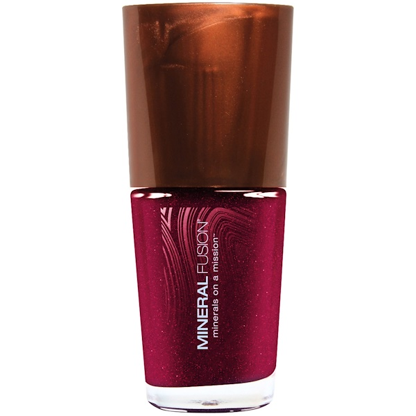 Mineral Fusion, Minerals on a Mission, Nail Lacquer, Rockin' Ruby, 0.33 fl oz (10 ml) (Discontinued Item)