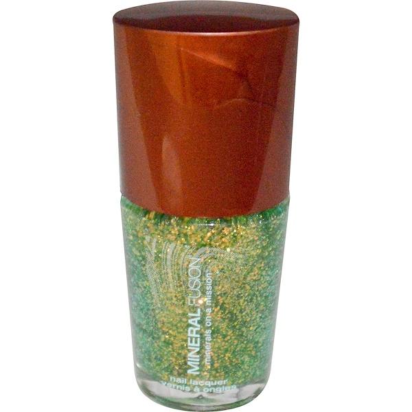 Mineral Fusion, Nail Lacquer, Emerald Sand, 0.33 fl oz (10 ml) (Discontinued Item)