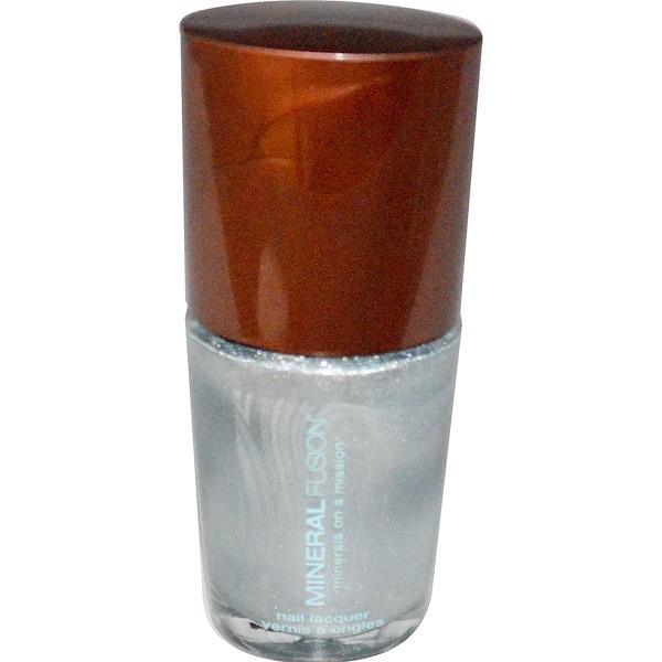 Mineral Fusion, Nail Polish, Blue Steel, 0.33 fl oz (10 ml) (Discontinued Item)