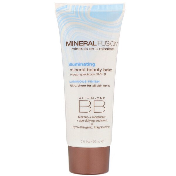 Mineral Fusion, Mineral Beauty Balm, SPF 9, Illuminating, 2.0 oz (60 ml) (Discontinued Item)