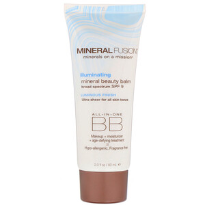 Минерал Фьюжн, Mineral Beauty Balm, SPF 9, Illuminating, 2.0 oz (60 ml) отзывы